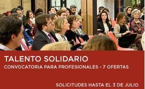 Convocatoria para nuevos profesionales por parte de la Fundación Botín en su programa Talento Solidario.